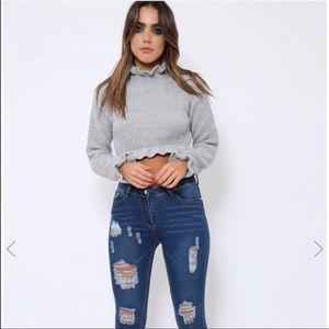 Rebellious Fashion crop sweater